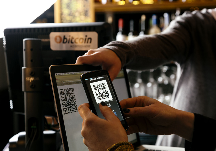Paying with Bitcoin at Habitat Lounge