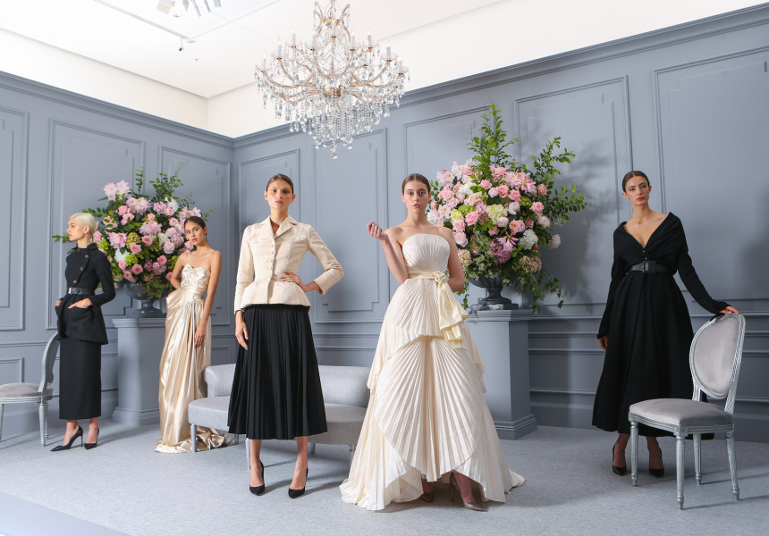 Models wear Christian Dior  Images shot at the National Gallery of Victoria, Melbourne