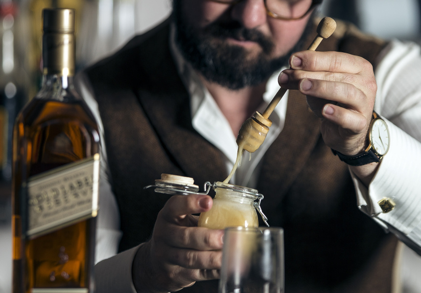 Sean Baxter making his Classic Hot Toddy