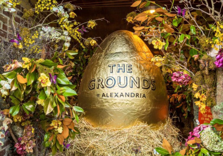 Australia's biggest hollow Easter egg at The Grounds of Alexandria