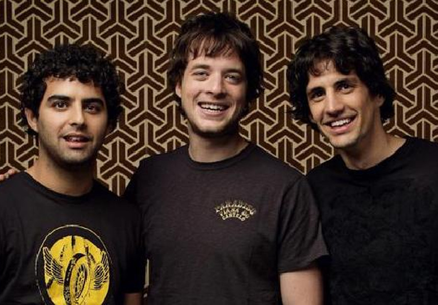 Left to right: Ryan Shelton, Hamish Blake and Andy Lee