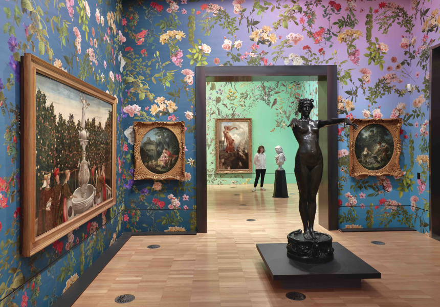 Installation view of Fallen Fruit's work Natural History 2020 on display in NGV Triennial 2020 from 19 December 2020 – 18 April 2021 at NGV International, Melbourne © Fallen Fruit.