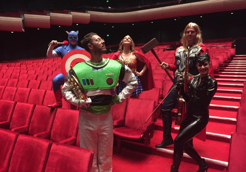 WASO musicians in costume.