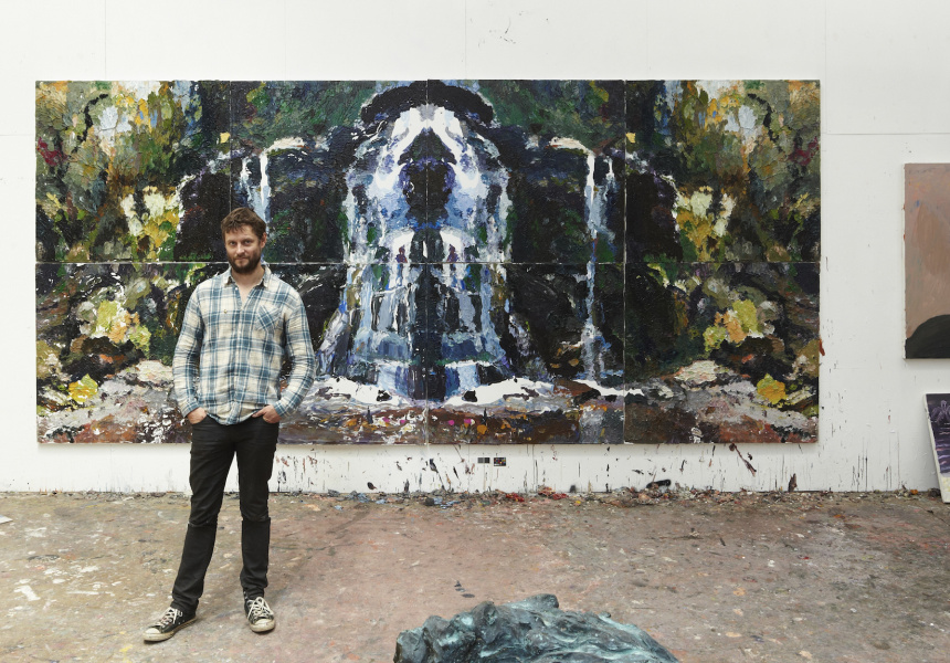 Ben Quilty with Fairy Bower Rorschach (2012)