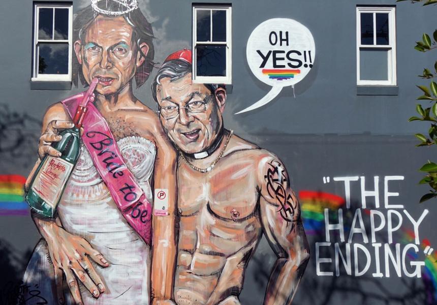 Liberal MP Tony Abbott and Cardinal George Pell