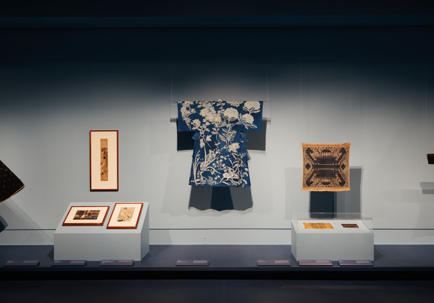 Installation view of Blue: Alchemy of a Colour at NGV International