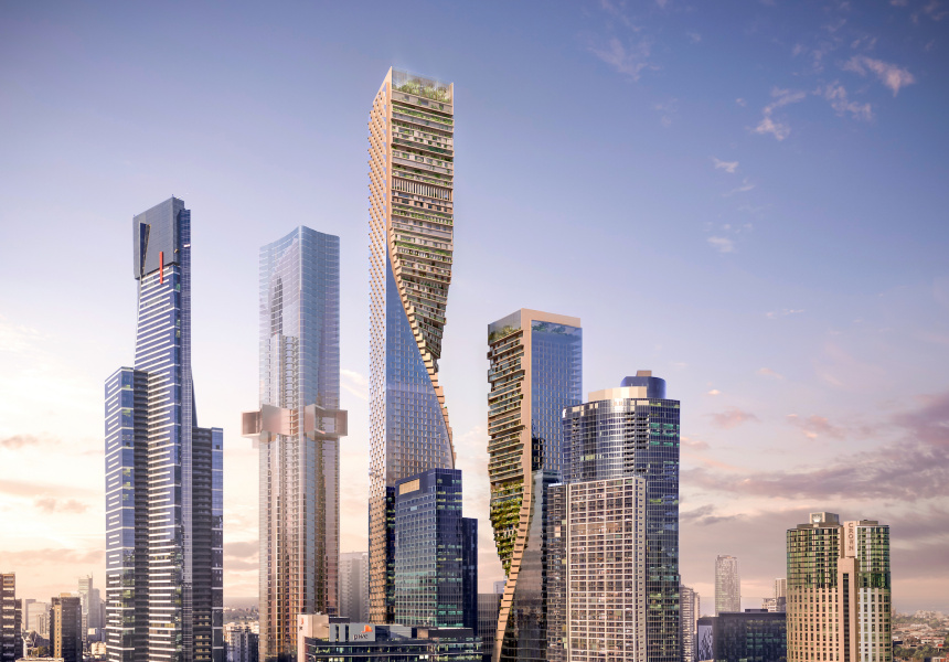 Architects renders of Green Spine