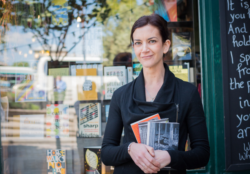 Annabel Ross at Shakespeare and Company, Paris, France