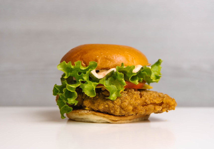 Neil Perry's Southern Fried Chicken Burger