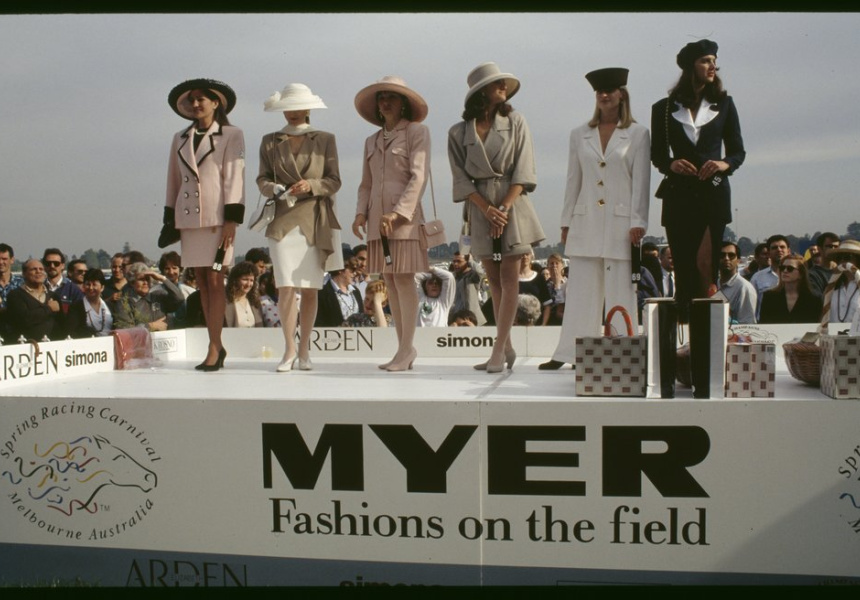 Ellis, Rennie (1993). [Myer Fashions on the Field, Caulfield Cup Day].