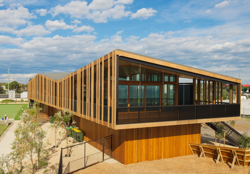 Keast Park, an award-winning building by Jackson Clements Burrows Architects, one of the four architects asked to submit a new design for Stokehouse.