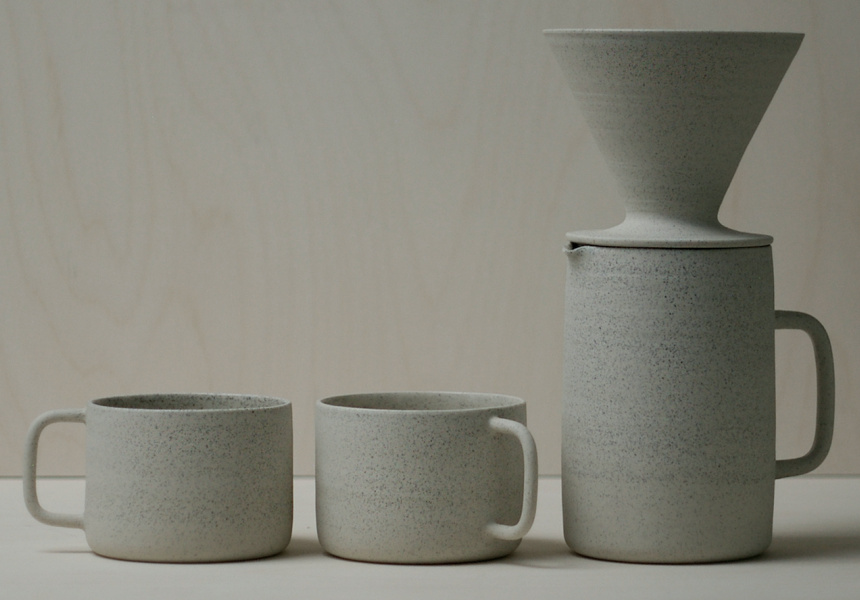 Ghost Ceramics, coffee set