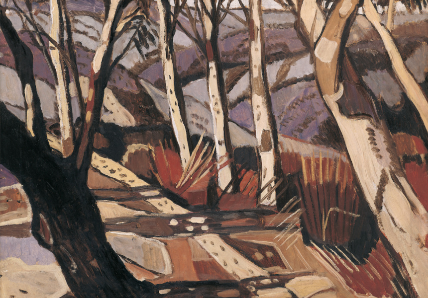 Margaret Preston  Aboriginal landscape, 1941  oil on canvas  40 x 52 cm  Art Gallery of South Australia  D & JT Mortlock Bequest Fund 1982 © Margaret Rose  Preston Estate