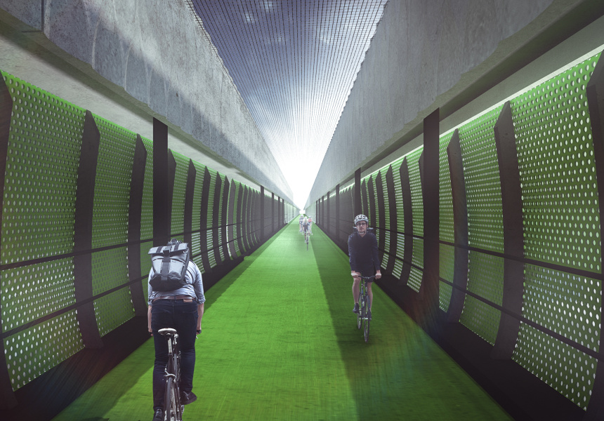"""Concept for the proposed 2.5km """"veloway""""."""