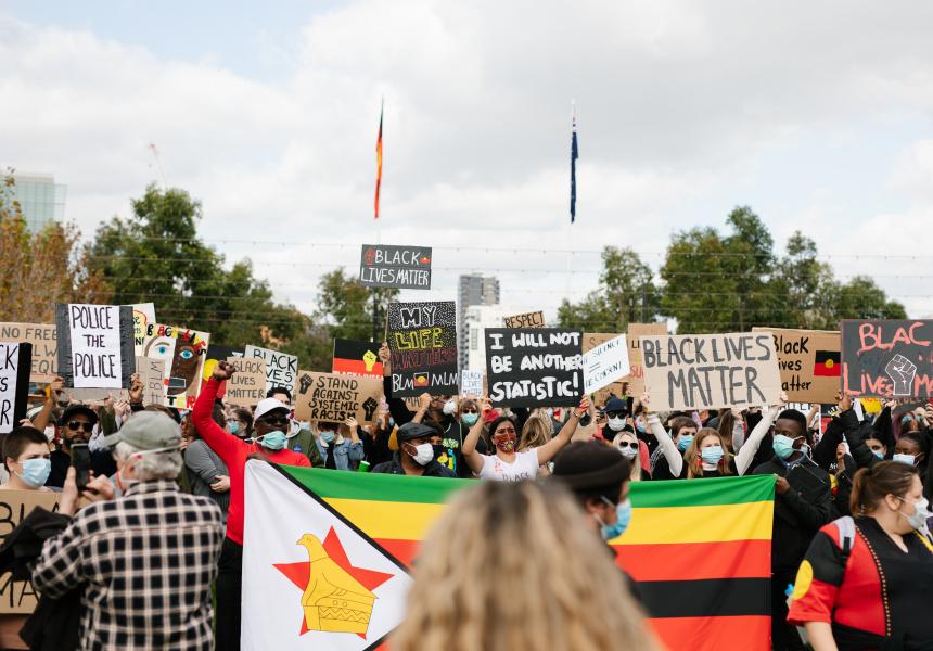 Black Lives Matter protests in Adelaide in 2020.