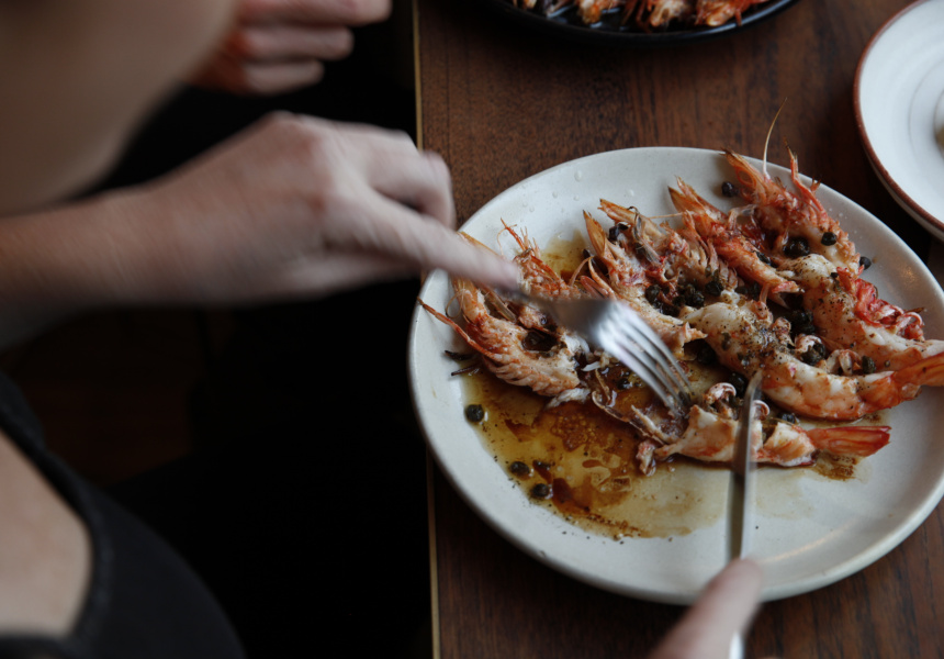 Ester's Roasted Prawns with Brown Butter and Tamari