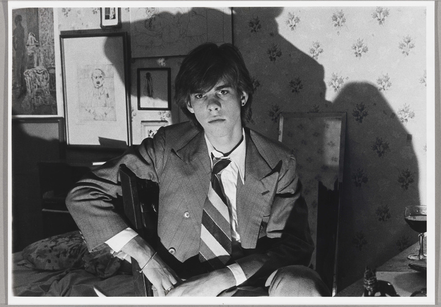Ashley Mackevicius Nick Cave, 1973 gelatin silver photograph National Portrait Gallery, Canberra.  Gift of the artist 2006.