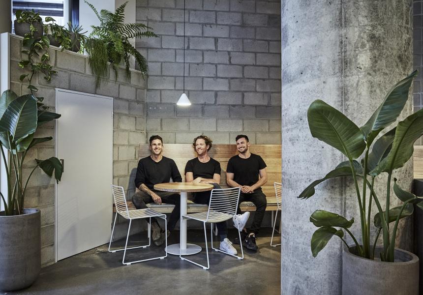 Left to right: Tom Fissenden, Brett Graham and Callum Ellis.