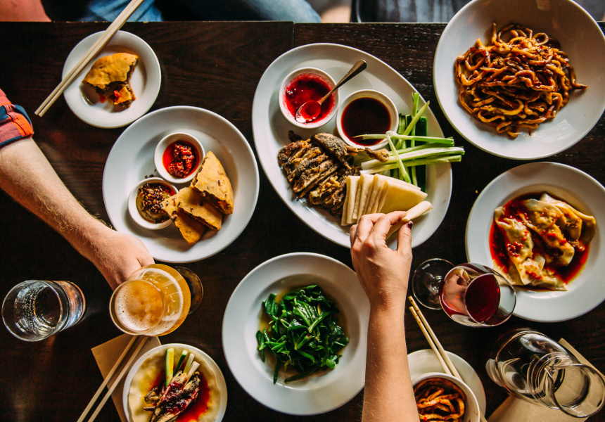 Billy kwong does sunday lunch broadsheet for Asian indian cuisine