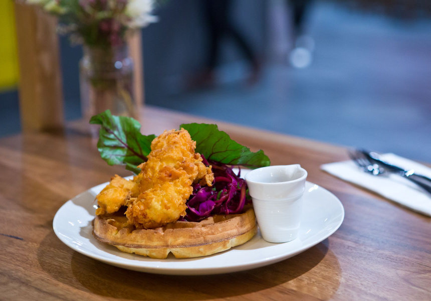 Buttermilk fried chicken at Waffee