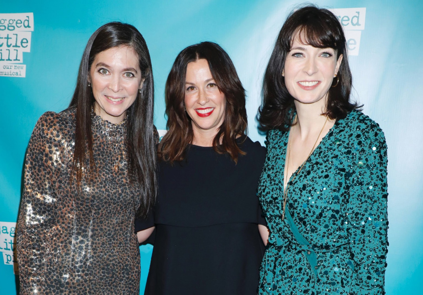 Diane Paulus, Alanis Morrisette and Diablo Cody at the Jagged Little Pill Broadway opening December 2019
