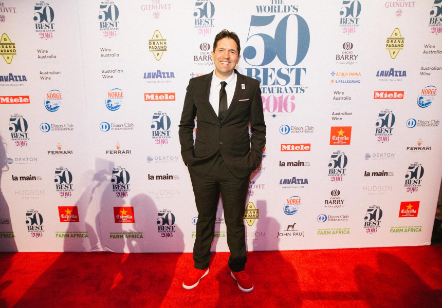 Ben Shewry in New York at the 2016 World's 50 Best Restaurants Awards.