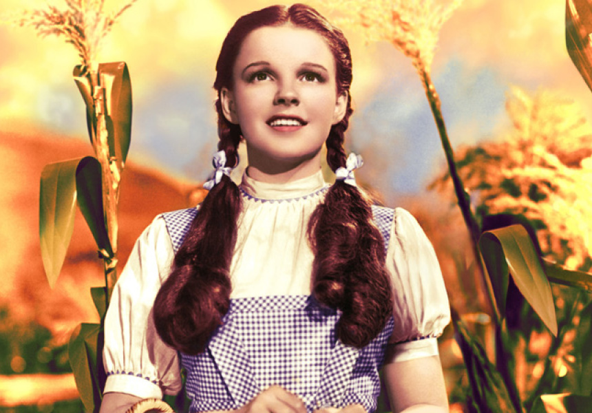 Judy Garland in THE WIZARD OF OZ. TM & © Turner Entertainment Co. (s13) Costume by Adrian.