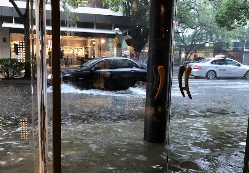 Floodwaters in Sydney, February 2017