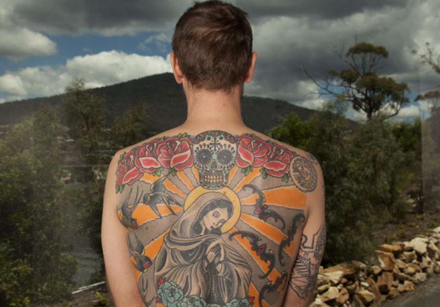 Tattoo Tim (2006-now), tattooed human skin
