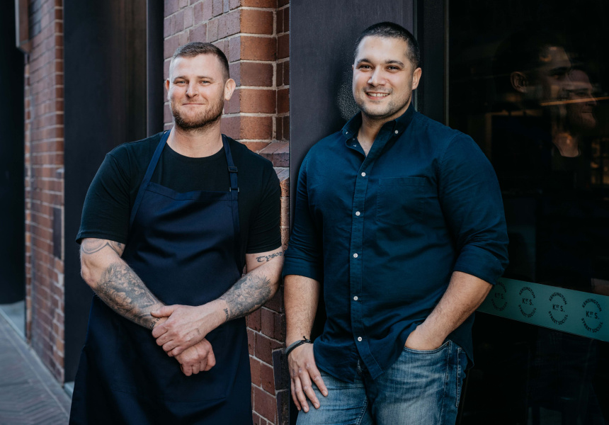 Owners, chef Darryl Martin and Andrew Jordanou