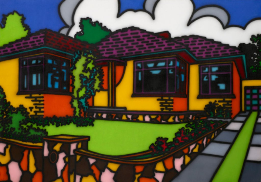 Howard Arkley Triple fronted 1987 Art Gallery of NSW, Mollie and Jim Gowing Bequest Fund 2014  © The Estate of Howard Arkley, courtesy Kalli Rolfe Contemporary Art
