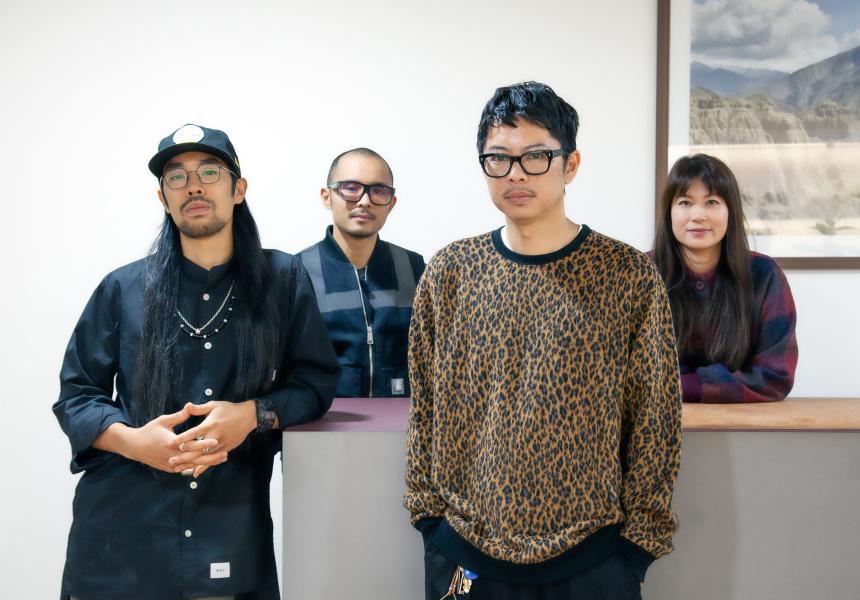 Ben Chiu, Nick Chiu, Simon Sun and Kimberley Sun