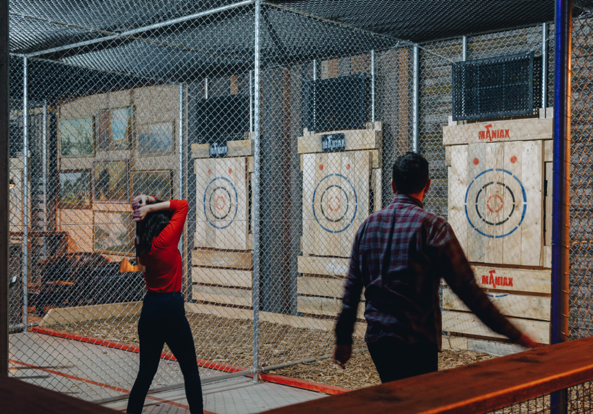 Maniax Axe Throwing in Melbourne, Victoria