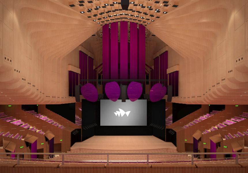 Render of the refurbished Concert Hall