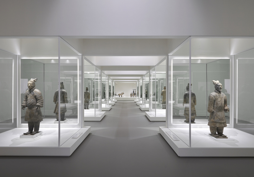 Installation view of Terracotta Warriors: Guardians of Immortality at NGV International