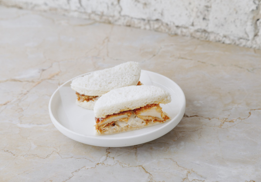 Abalone katsu sandwich, Cutler and Co. Bar, Fitzroy, Victoria