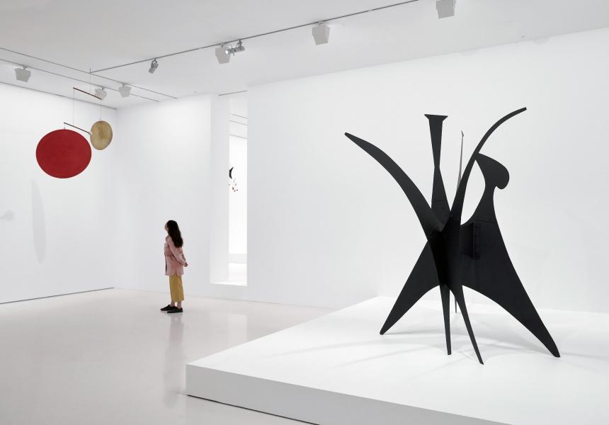 Installation view of Alexander Calder: Radical Inventor on display at NGV International from 5 April – 4 August 2019 © 2019 Calder Foundation, New York / Copyright Agency, Australia