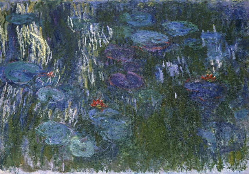 Claude Monet France 1840–1926 Water Lilies 1916–19 Oil on canvas 130.2 x 200.7cm Gift of Louise Reinhardt Smith, 1983 / 1983.532 Collection: The Metropolitan Museum of Art, New York