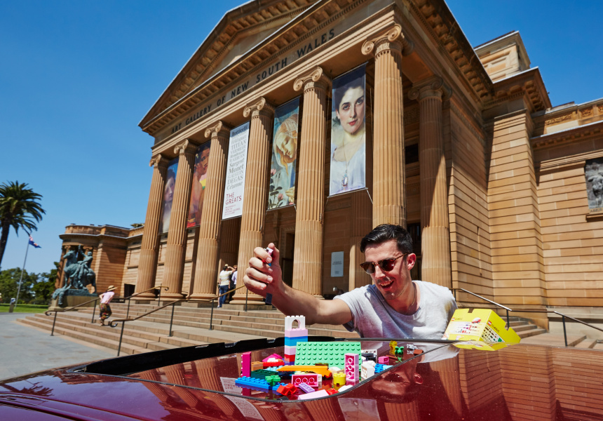 Drop-off point at AGNSW
