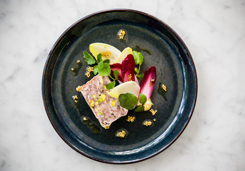 Vloet's veal and pistachio terrine, currently on the menu at Vincent.