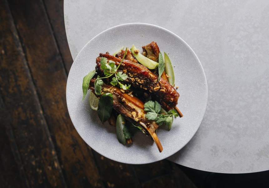 Sweet and sour lamb ribs