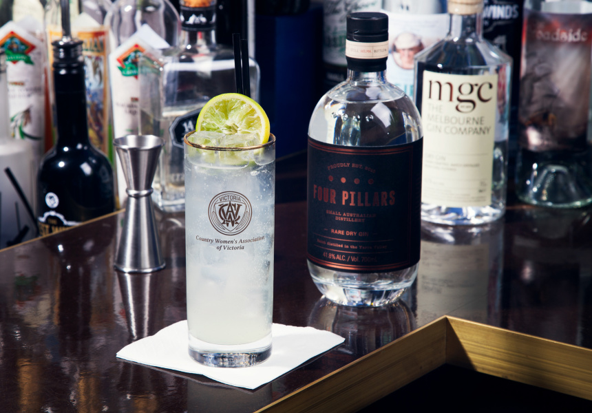 Gin Rickey with Four Pillars
