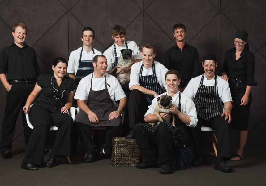 The team at Restaurant Amuse, circa 2010.