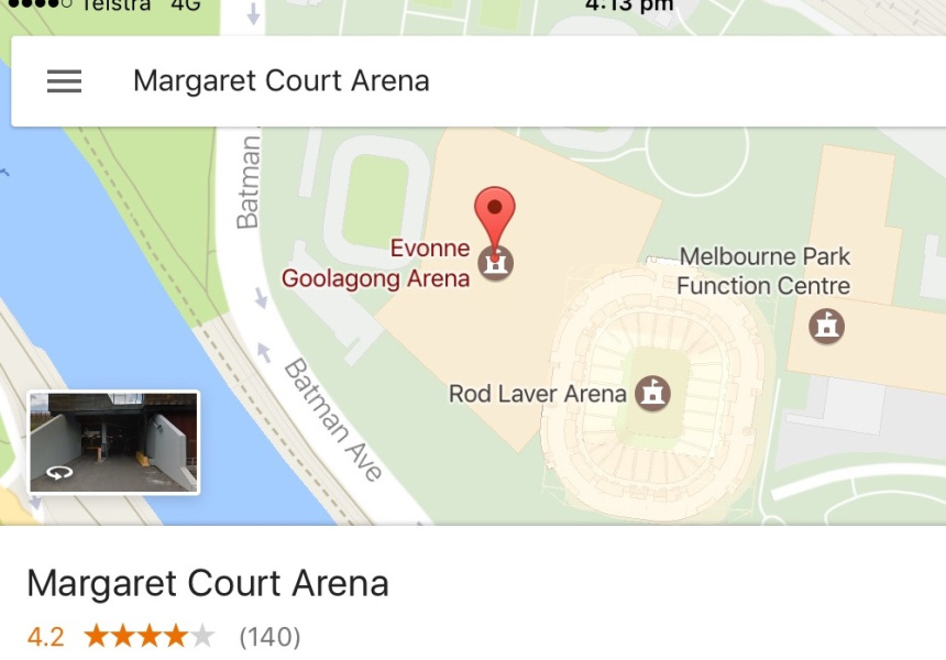 Google Maps 'renames' Margaret Court Arena in response to homophobic comments