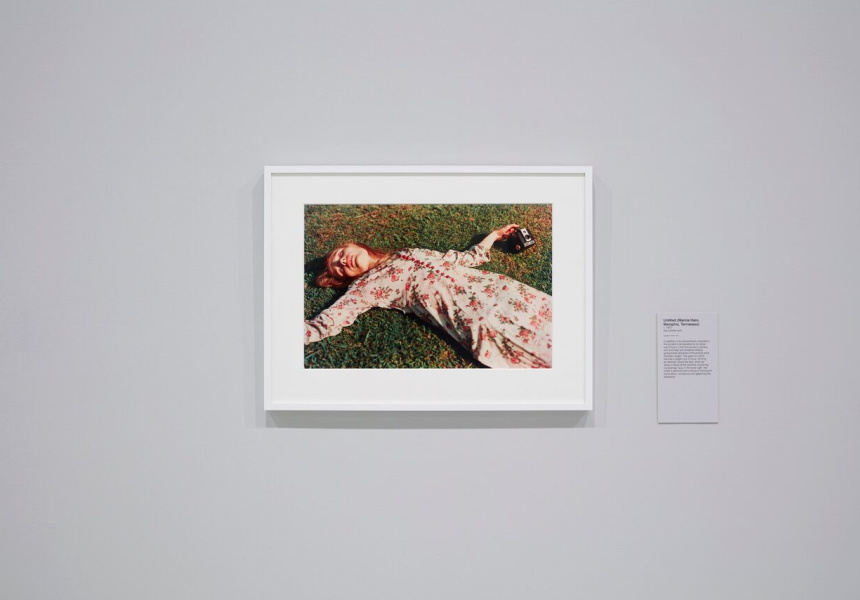 Installation view of William Eggleston Portraits at the National Gallery of Victoria.