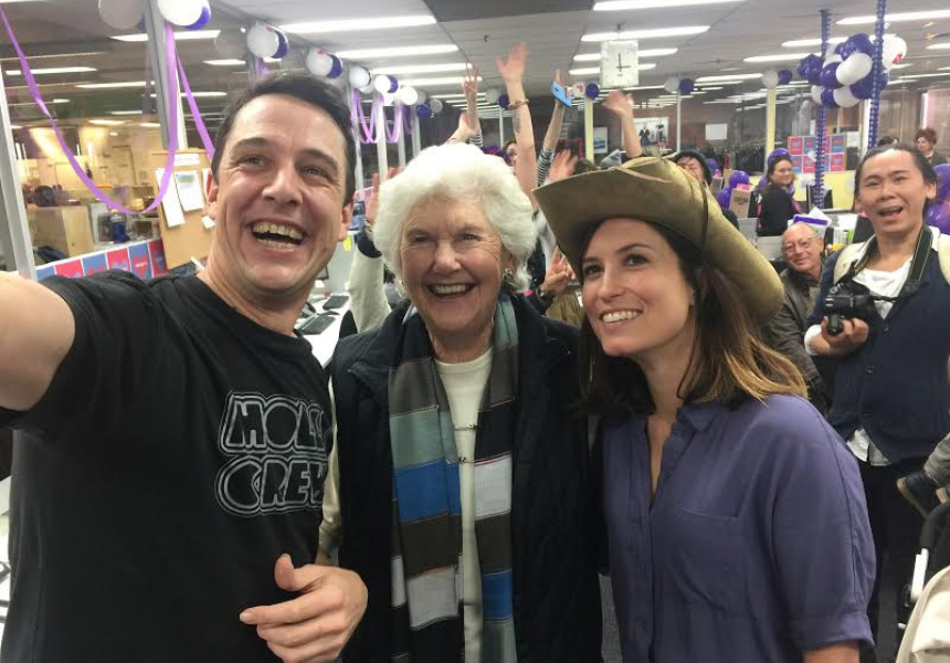 Samuel Johnson, Tamie Fraser and Missy Higgns at the ASRC Telethon 2017