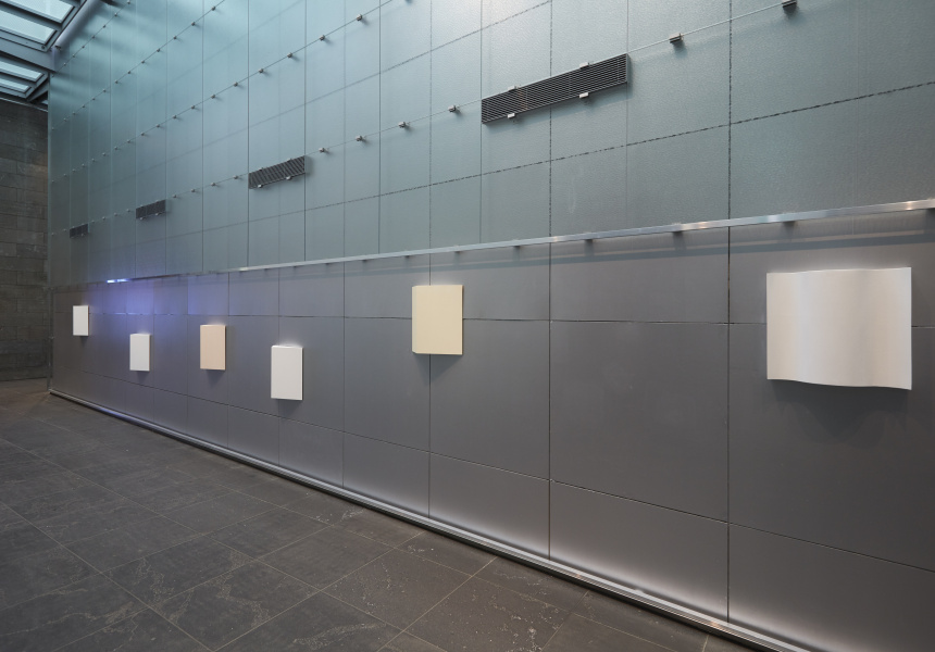 Installation view of Sissel Tolaas, The FEAR of [SmellScape Melbourne], 2017. On display in NGV Triennial at NGV International.