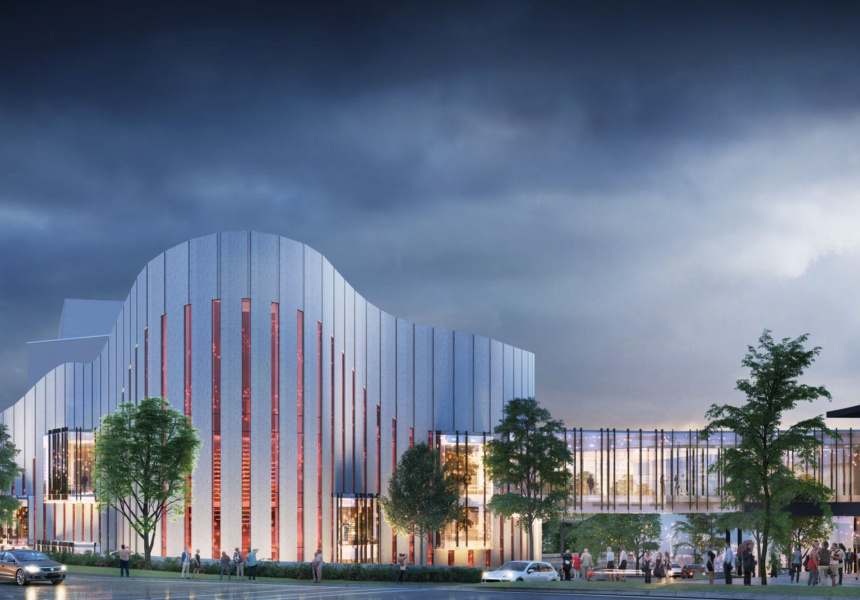 An artist's impression of the  Western Sydney Performing Arts Centre