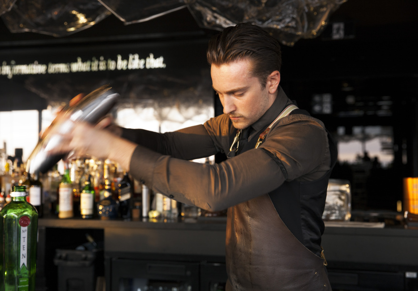 Lui bartender Eddie John.