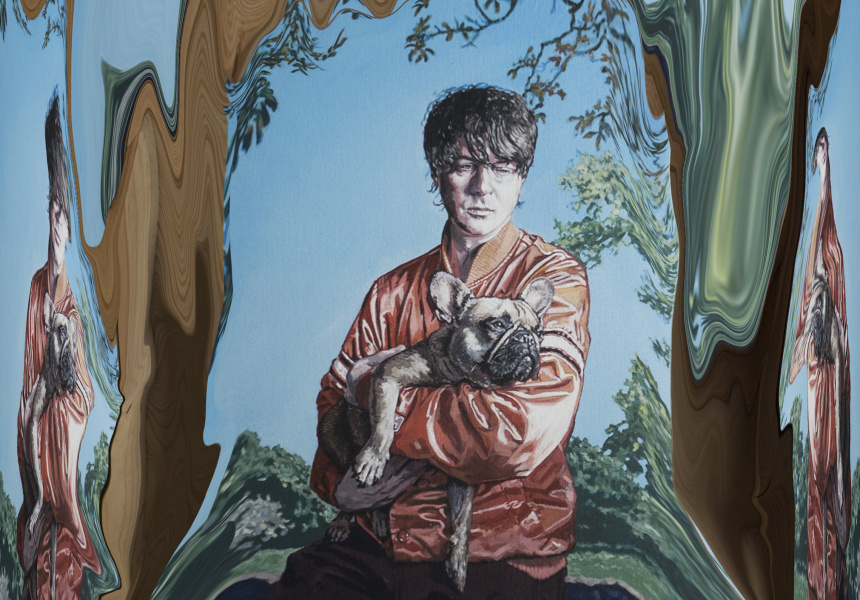 Panda Bear (detail). Painting by Hugo Oliviera